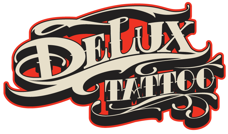 Logo design done in coloaboration with 2shae for Delux Tattoo in Newport